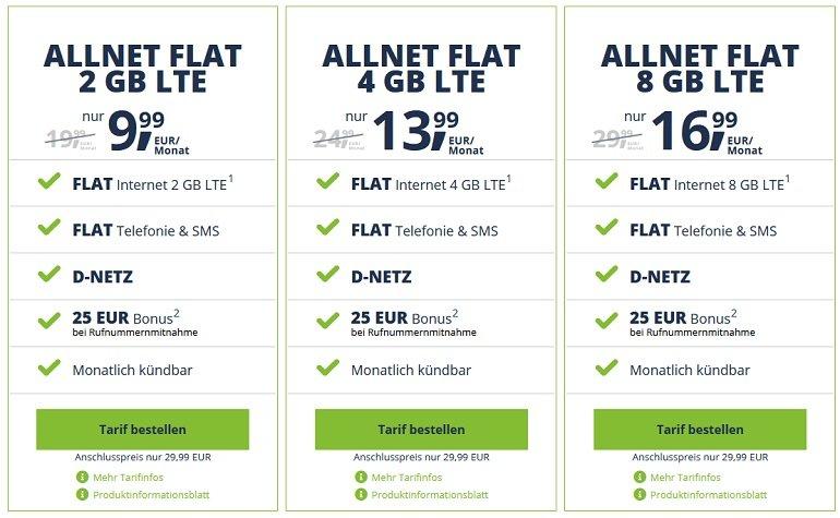 Freenetmobile Allnet-Tarife