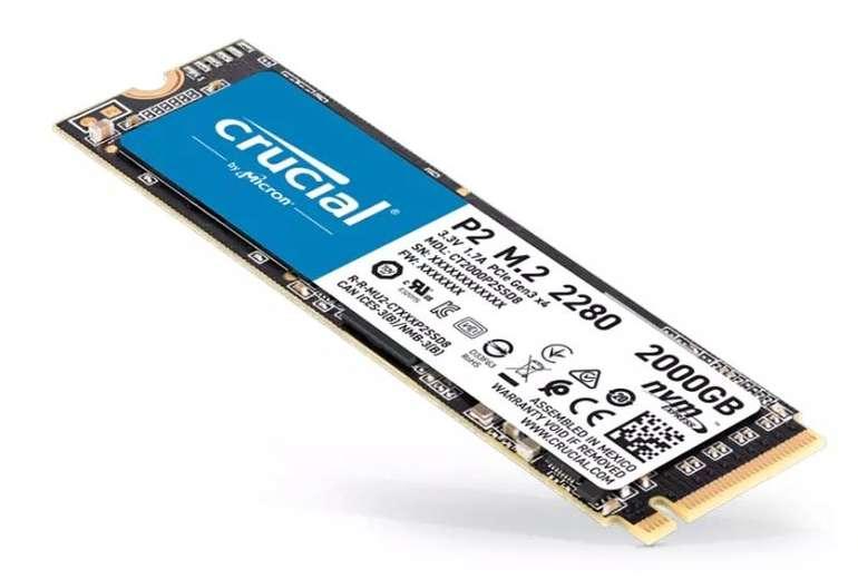 Crucial P2 M.2 2TB interne SSD für 169,36€ inkl. Versand (statt 221€) - Newsletter!