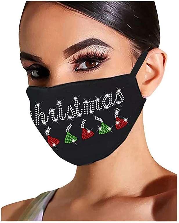 NoName Mund-Nasen-Maske mit Strass für je 3€ inkl. Versand (statt 4€)