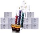 Celeste d'Oro Probierpaket: 100 Kapseln + Kapselhalter + 2 Kaffeegläser für 30€