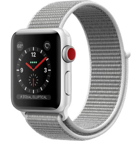 Apple Watch Series 3 GPS + LTE 38 mm (Seashell Sport Loop) zu 296,01€ (VG: 315€)