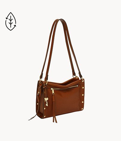 """Fossil Damentasche """"Allie - Satchel"""" in Cognac für 65€ inkl. Versand (statt 120€)"""