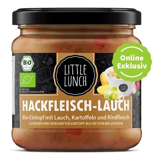 11er Pack Little Lunch Hackfleisch Bio-Eintopf mit Lauch, Kartoffeln und Rindfleisch für 28,79€ (statt 39€)