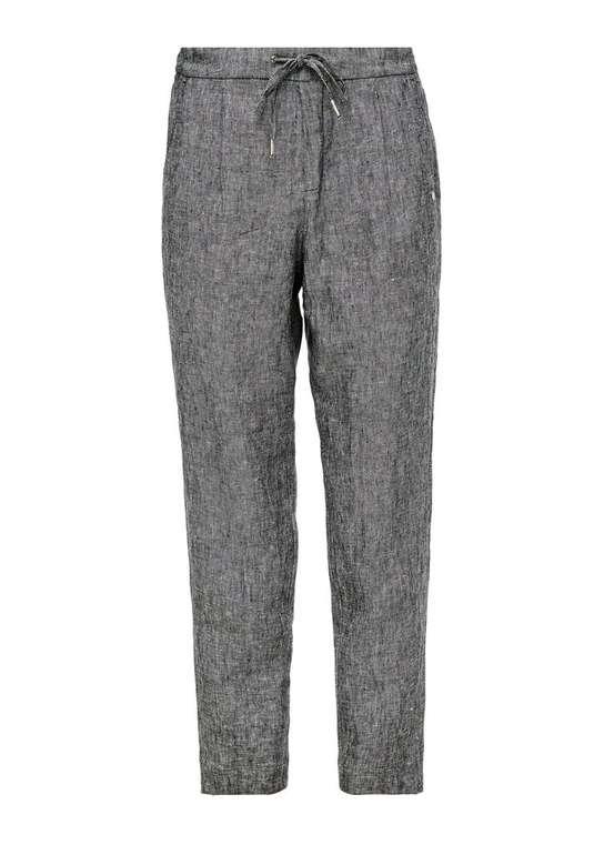 S.Oliver Damen Leinenhose in grau für 35,99€ inkl. Versand (statt 45€)