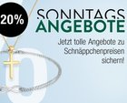 Galeria Kaufhof Sonntagsangebote - z.B. -20% auf Schmuck + 20% Rabatt ab 80€ MBW