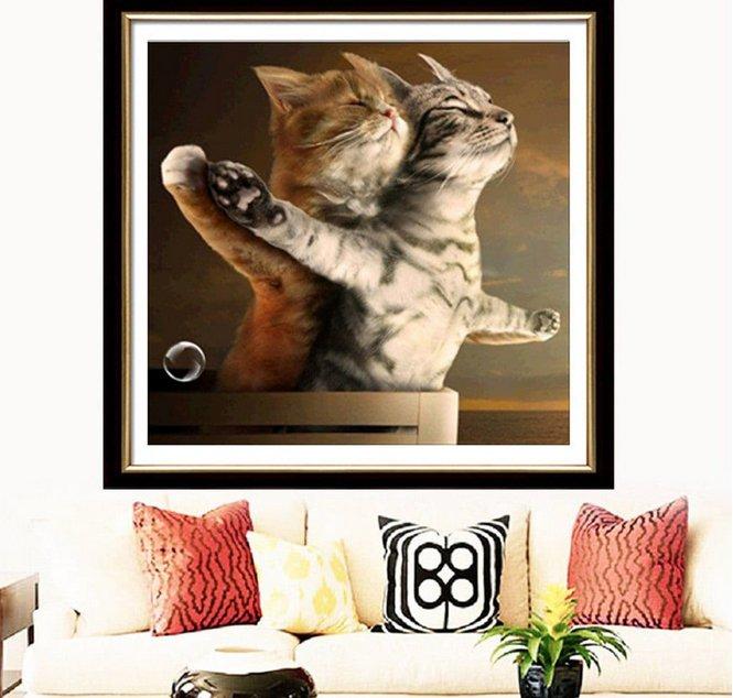 Zglgbycg 6178 Diamond Drawing Living Room Cat (30 x 30cm) für 2,12€