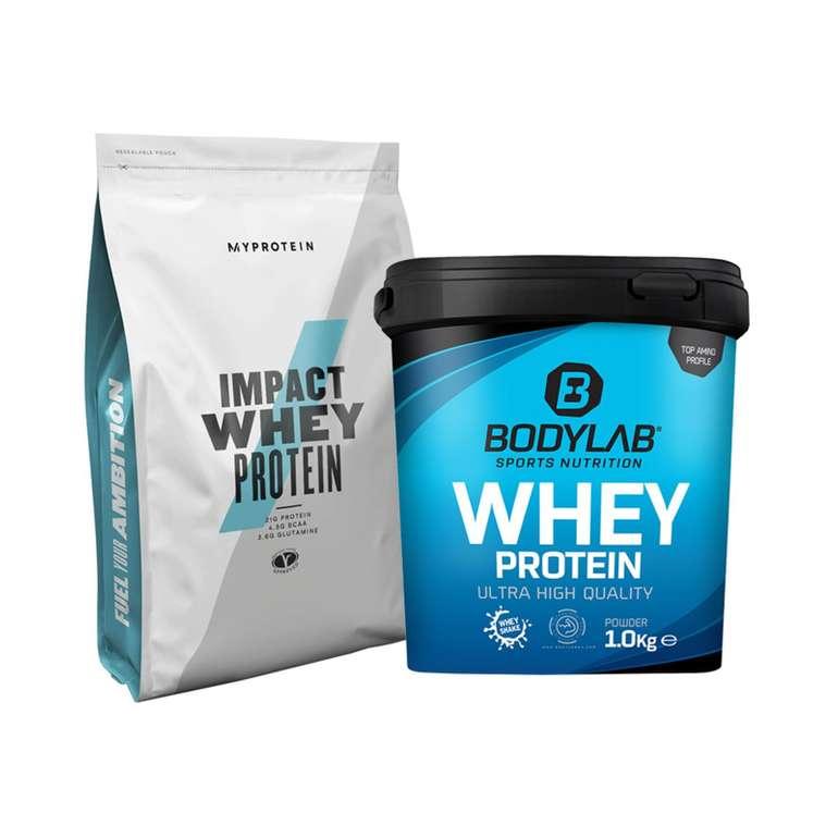 Bodylab24 Whey Protein (2000g) + MyProtein Impact Whey Protein (1000g) für 26,89€ inkl. Versand