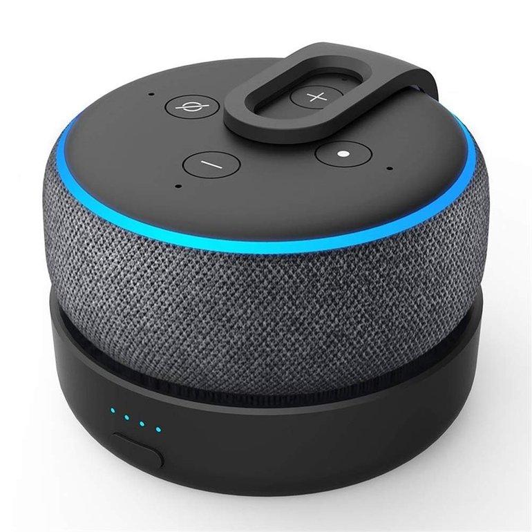 GGMM D3 tragbarer Akku für Echo Dot 3 mit 8 Stunden Akkulaufzeit für 27,99€