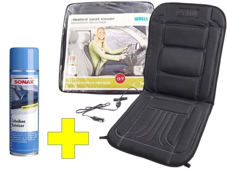 Waeco Sitzheizung (beheizbare Auto Sitzauflage) + Sonax Scheibenenteiser für 29€