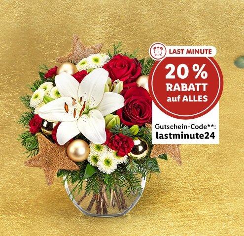 Lidl Blumen mit 20% auf alles - z.B. Sträuße für Weihnachten oder Geburtstag
