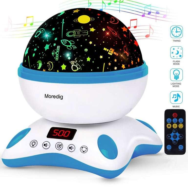 Moredig LED Sternenhimmel bzw. Tierwelt Projektor mit Musik (2 Farben) für je 14,99€ inkl. Prime Versand (statt 19€)