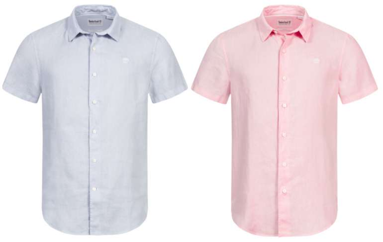 Timberland Mill River Herren Leinen Kurzarm Hemd für 33,94€ inkl. Versand (statt 50€)