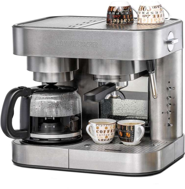 Rommelsbacher Kombi-Kaffeemaschine Espresso Center EKS 3010 für 199,90€ inkl. Versand - Neuwertige Kundenretoure