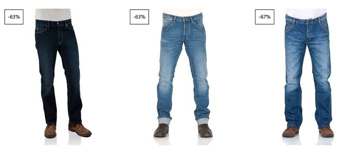 3 Mustang Jeans oder Shorts
