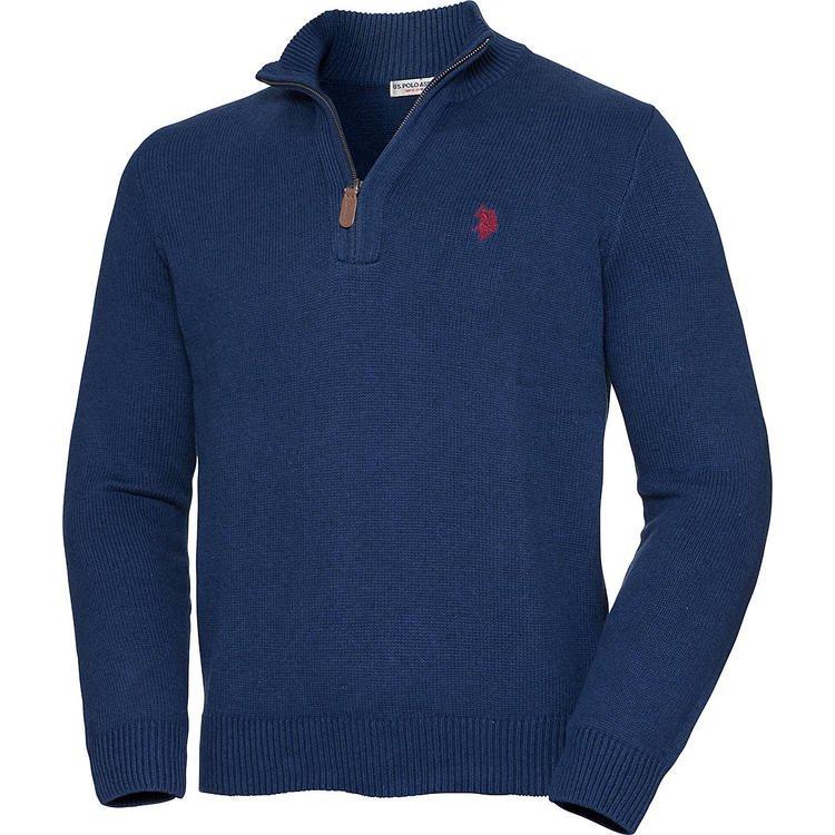 U.S. Polo Assn. Herren Pullover mit Zipper für 27,60€ inkl. Versand (statt 40€) - XL bis 4XL