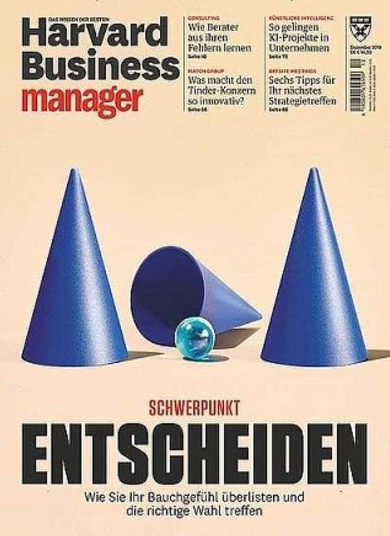 Harvard Business Manager Jahresabo für 169€ + z.B. 130€ Douglas- oder 125€ Bestchoice Gutschein