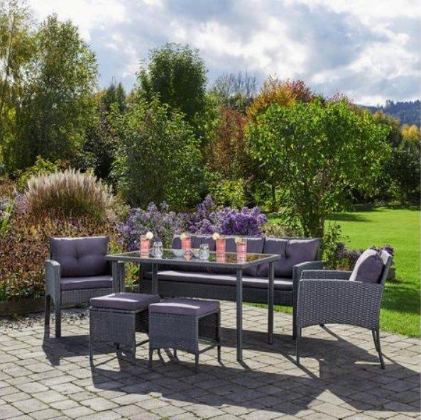 Gartengarnitur Kerstin inkl. Tisch + Auflagen für 301,70€ inkl. Versand (statt 420€)