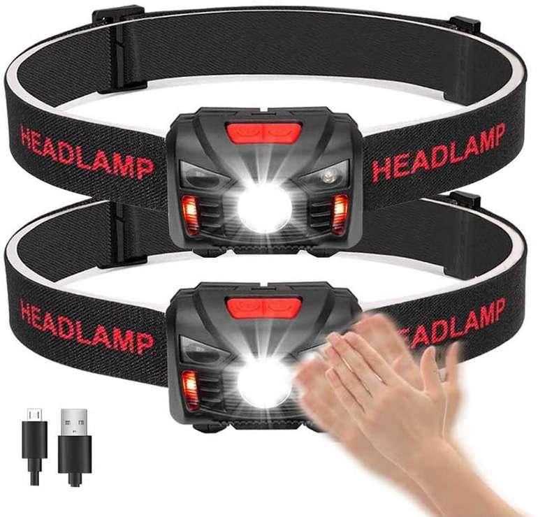 Winzwon wiederaufladbare LED Stirnlampe im Doppelpack für 11,39€ inkl. Prime Versand (statt 19€)