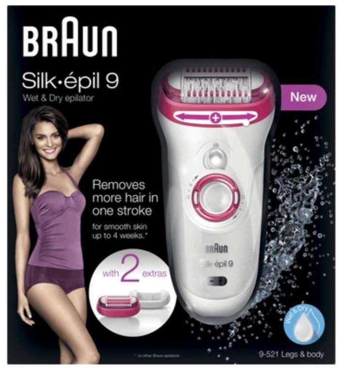 Braun Silk-épil 9 9-521 Wet & Dry Epilierer für elektrische Haarentfernung nur 59,95€ (statt 74€)
