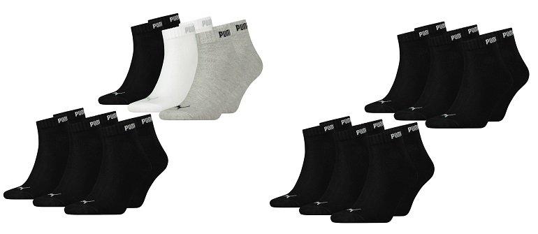 12 Pack Puma Unisex Quarter Clyde Sport Socken 3