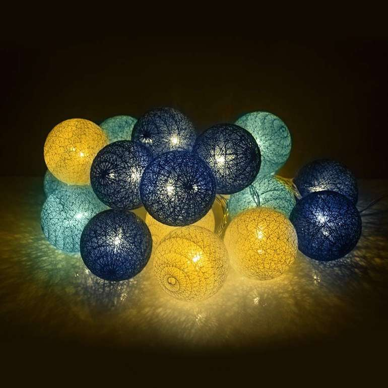 Zonpor Kugel-Lichterkette mit 20 LEDs für 7,99€ inkl. Prime Versand (statt 16€)