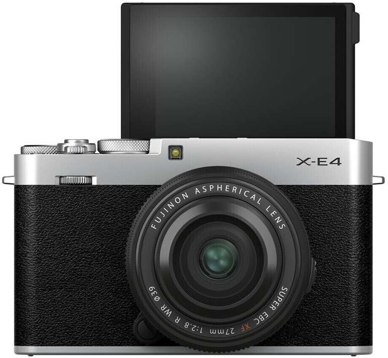 Fujifilm X-E4 Systemkamera + Fujinon XF27mm (f2.8 R WR, 26,1 MP, Bluetooth) für 839,51€ inkl. Versand (statt 1.049€)