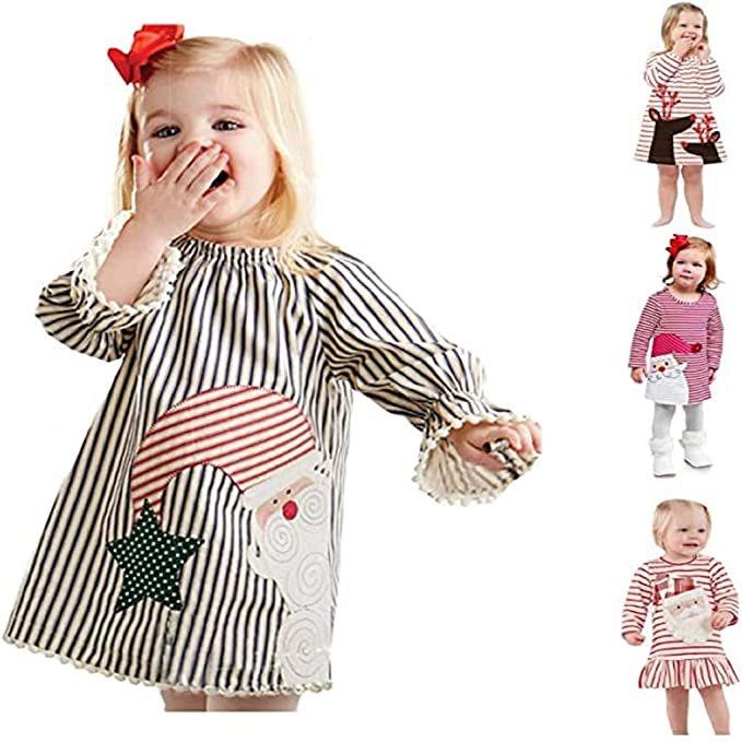 Vesniba Mädchen Kleider mit Weihnachtsmotiv für je 6,42€ inkl. Versand (statt 8€)