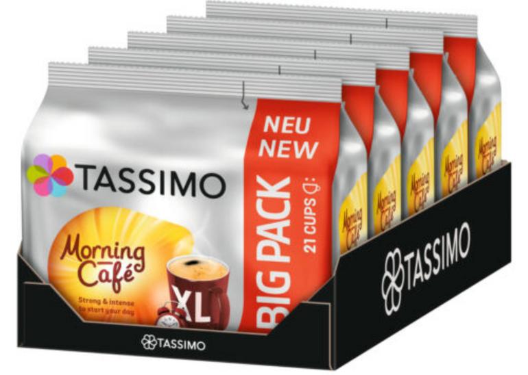 105er Pack Tassimo Morning Café XL Kaffee Kapseln für 19,96€ (statt 25€)