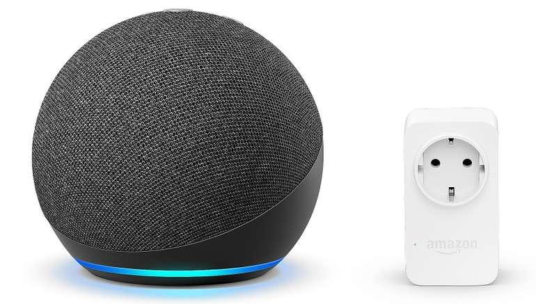 Amazon Echo Dot (4. Generation) + Amazon Smart Plug (WLAN-Steckdose) für 49,94€ inkl. Versand (statt 65€)