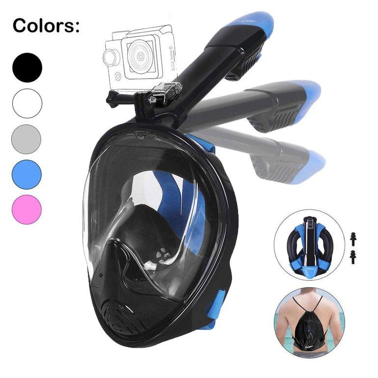 Unigear faltbare Schnorchelmaske mit Kamerahaltung für 12,99€ (Prime)