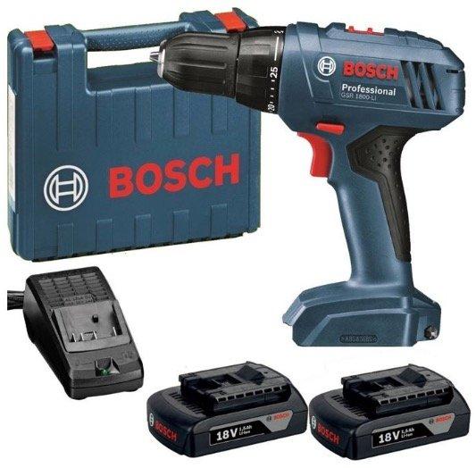 Bosch Akkuschrauber GSR 1800 Li + 2. Akku & Koffer für 88€ inkl. Versand