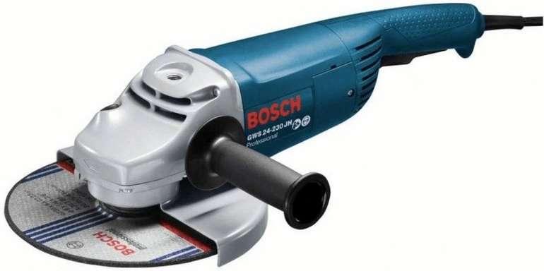 Bosch Professional Winkelschleifer GWS 24-230 JH (Scheiben-Ø 230 mm, 2.400 Watt) für 102,99€ (statt 135€)