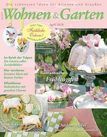 6 Ausgaben von Wohnen & Garten für 24€ + 15€ Verrechnungsscheck