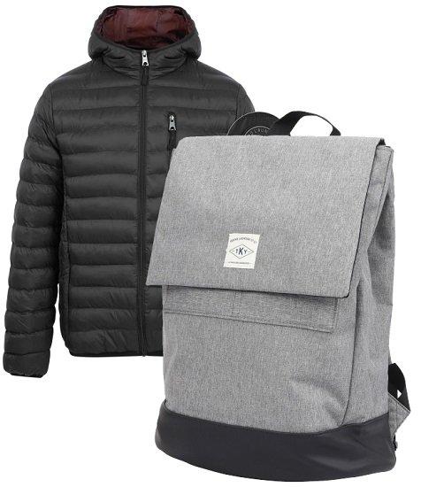 Tokyo Laundry Bundle: Jacke oder Weste + Rucksack (2 Farben) für 31,81€