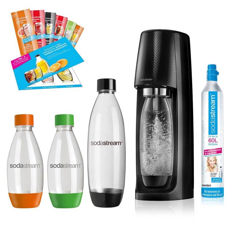 SodaStream Easy Vorteilspack (Zylinder, 4 Flaschen, 6x Sirup) für 50,99€ (statt 57€)