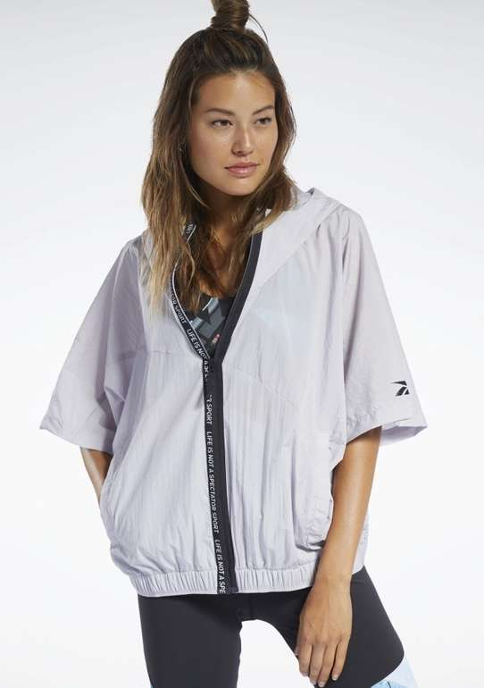 Reebok Damen Woven Short-Sleeve Jacke für 32,29€ inkl. Versand (statt 58€)