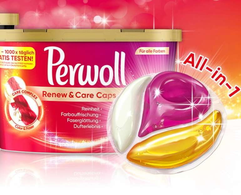 (Vorabinfo) Geld zurück Garantie: Perwoll Renew & Care Caps Color gratis testen ab 01.06.2021