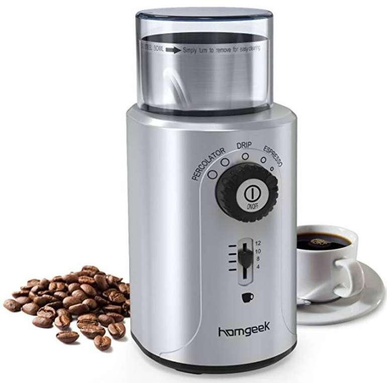 Homgeek Edelstahl Kaffeemühle für 22,19€ / Wasserkocher für 23,99€ inkl. Versand