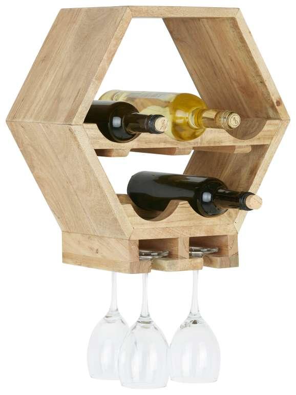 Modern Living Weinregal (Akazie Massiv) für 24,43€ inkl. Versand