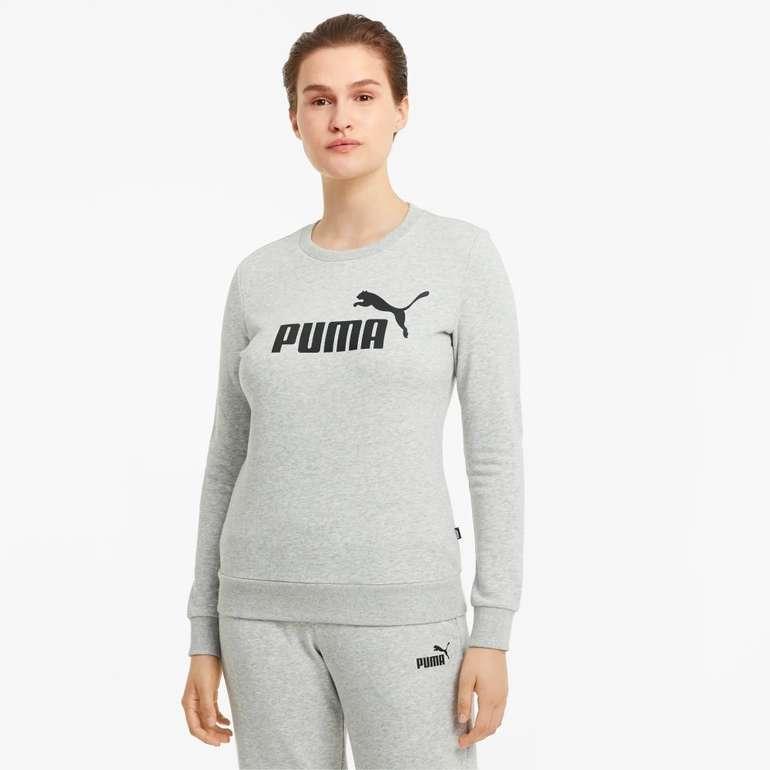 Puma Essentials Logo Damen Sweatshirt mit Rundhalsausschnitt in 2 Farben für je 14,96€ (statt 20€)