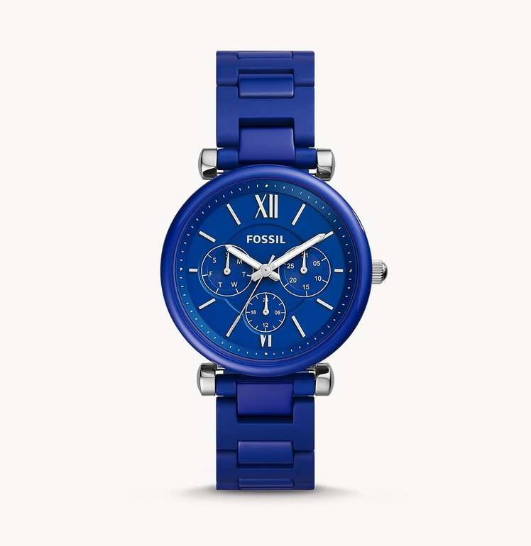 Fossil Damenuhr Carlie Keramik Limited Edition in blau (LE1097) für 98€ inkl. Versand (statt 162€)
