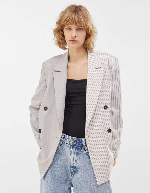 Bershka Damen Blazer mit Kontrasten für 23,94€ inkl. Versand (statt 46€)