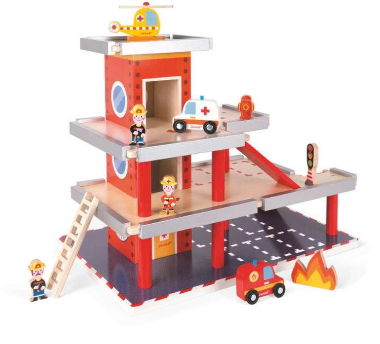 babymarkt: 10% auf fast Alles, z.B. Janod J05717 Feuerwehrstation aus Holz für 43,60€ (statt 58€)