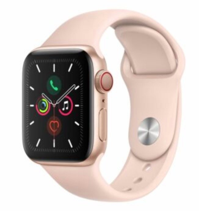 Apple Watch Series 5 40mm GPS + Cellular LTE in sandrosa für 484,80€ inkl. Versand (statt 537€)