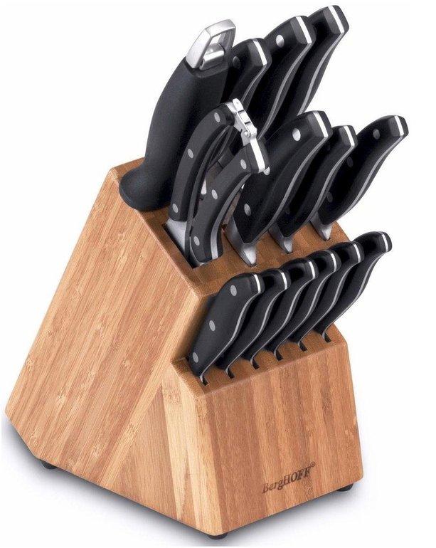 BergHOFF Messerblock (15-tlg.) mit Messerschärfer für 61,94€ inkl. Versand (statt 75€)