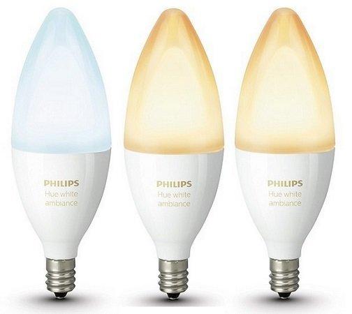 Dreierpack Philips Hue White Ambiance E14 LED für 58,72€ (statt 70€)