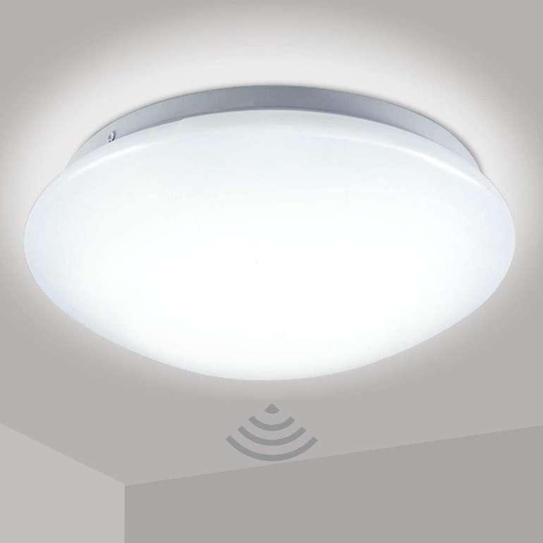 Hengda LED Deckenlampe mit Bewegungsmelder (12W, Ø24 cm) für 16,12€ inkl. Versand (statt 25€)