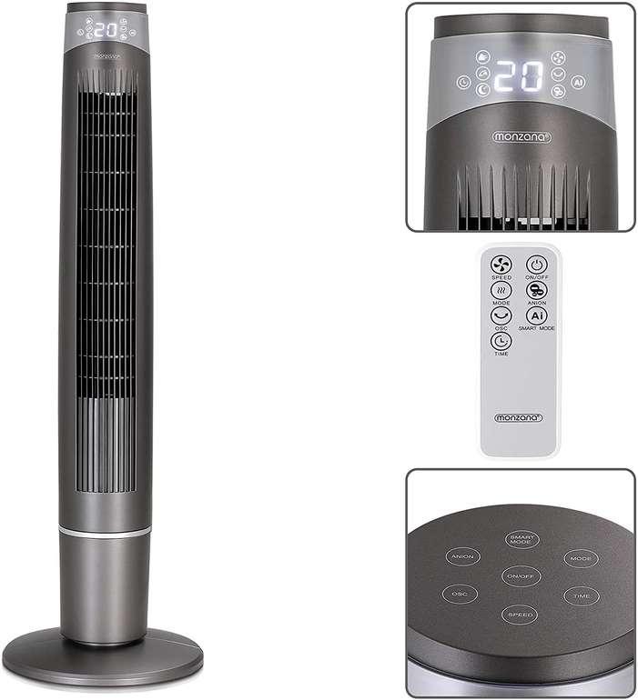 Monzana Turmventilator MZTV120 (Fernbedienung, 3 Modi, Smartfunktion) für 49,95€ inkl. Versand (statt 60€)