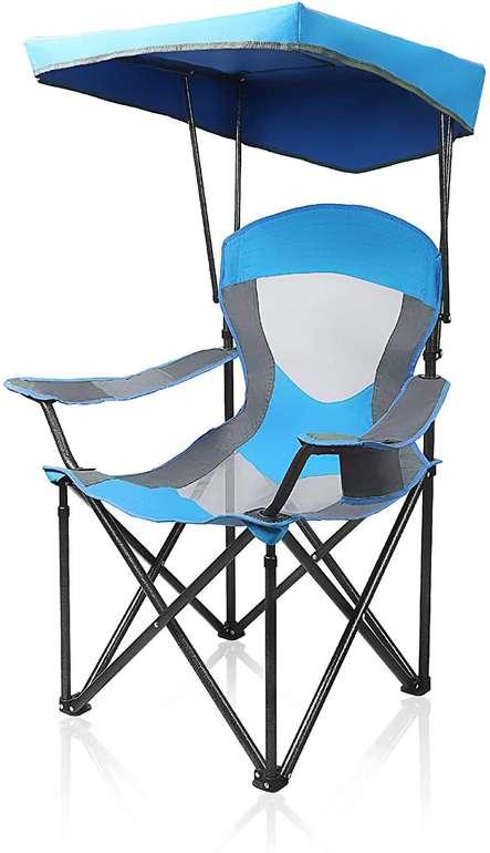 Alpha Camp Campingstuhl mit Sonnendach in Blau und Rot für 19,99€ inkl. Versand (statt 35€)
