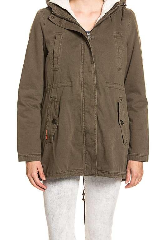 Jacken Marken Sale mit bis zu 67% Rabatt - z.B. Superdry Damen Rookie Sherpa Military Parka für 35€
